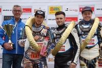 Max Dilger und Erik Riss (Mitte) siegten für die Herxheim Tigers
