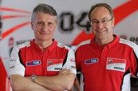 MotoGP-Projektleiter Paolo Ciabatti und Ducati-Rennchef Bernhard Gobmeier
