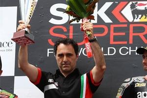Romano Albesiano feierte zuletzt in Katar den letzten Superbike-Laufsieg von Aprilia