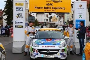 Jari Huttunen im Ziel der Rallye Hessen