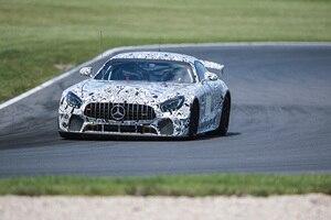 Der neue Mercedes-AMG GT4 in Camouflage