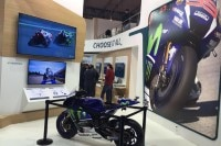 Jorge Lorenzos Movistar-Yamaha beim «Mobile World Congress» in Barcelona