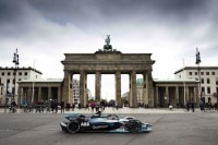 Nico Rosberg am Brandenburger Tor