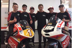 Die sechs Nachwuchsfahrer von Kiefer Racing im NEC 2017