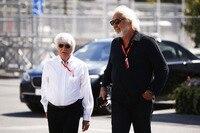 Bernie Ecclestone und Flavio Briatore in Baku