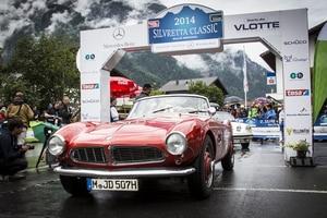 Am Start der Silvretta Classic: BMW 328 Mille Miglia Roadster, der 1940 Platz 3 bei der legendären Langstreckenfahrt belegte