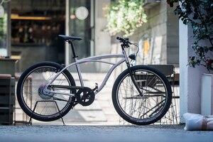 Schön gemacht, und wenn die Gewichtsangabe von 13,5 kg stimmt, ist das Morini-Fahrrad ein Leichtgewicht in dieser Klasse
