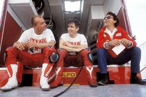 Giancarlo Falappa, Raymond Roche und Marco Lucchinelli (v.l.)