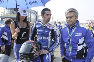 Marco Melandri (li.) mit Andrea Dosoli 2011 im Yamaha-Werksteam