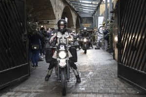 Start zum grossen Abenteuer am Bike Shed Motorcycle Club in Shoreditch/England