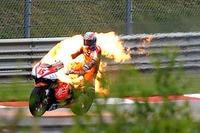Colin Edwards: Als Fackel auf dem Sachsenring