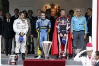 David Coulthard mit Superman-Cape