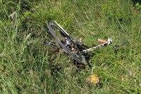 Das Rennrad von Nicky Hayden nach dem Unfall