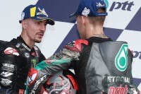 Maverick Viñales mit Fabio Quartararo (re.)