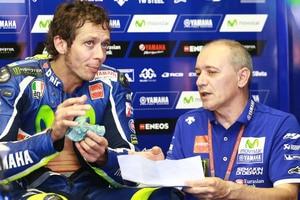 Valentino Rossi mit Luca Cadalora