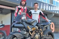 Keanue Reeves in Valencia mit Nico Terol