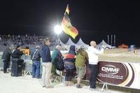 Die wenigen Fans konnten per Handschlag begrüsst werden