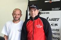 Michael Grabmüller (re.) mit seinem neuen Beifahrer Sébastien Lavorel