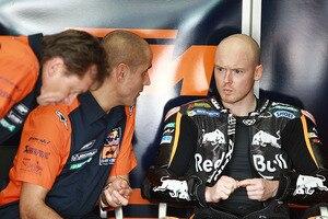 Teammanager Mike Leitner, Crew-Chief Tom Jojic und Bradley Smith