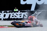 Sechs Rennen endeten für Marc Márquez 2015 im Kies