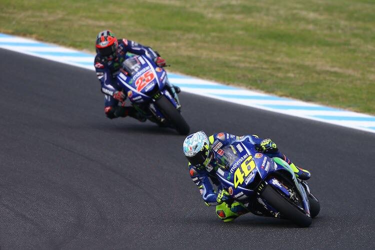 Rossi und Vinales