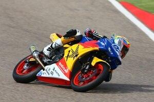 Borja Sánchez fuhr ein tolle Runde mit der Halcourier Yamaha R3