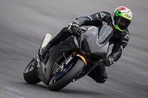 Davide Giugliano bei seinem ersten Einsatz auf der Honda