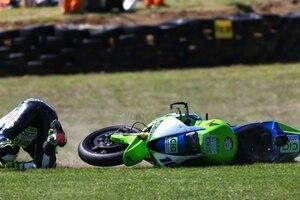Das Supersport-Rennen auf Philip Island endete für Jules Cluzel in der Wiese