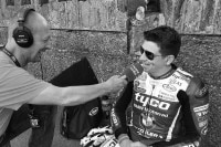 Dan Kneen beim Interview mit Radio Manx TT