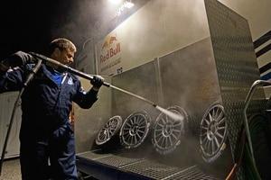 Die Reifenwaschanlage ist in Wales sehr wichtig