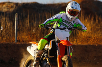 Nico Terol beim Supermoto-Training