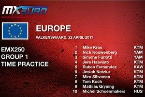 Mike Kras schaffte mit der Zweitakt-KTM die Pole-Position