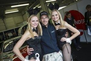 Maximilian Götz (Mitte) sorgte schon in der Vergangenheit im ADAC GT Masters für Aufsehen