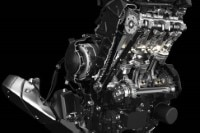 Das ist der Serien-Motor der Triumph Daytona 675