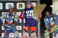 Die Top-3 der EM: Nicki Pedersen, Emil Sayfutdinov und Antonio Lindbäck (v.l.)