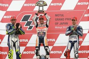 2015: Dani Pedrosa siegte in Motegi vor Valentino Rossi und Jorge Lorenzo
