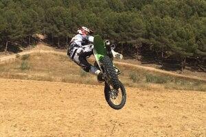 Yonny Hernandez beim Motocross-Training