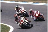Weltmeister Kevin Schwantz 1994 auf seiner Suzuki
