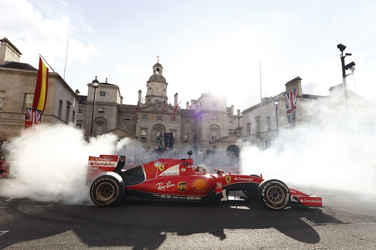 Formel-1-Show auf dem Trafalgar Square