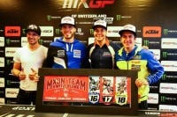 Arnaud Tonus (MXGP), Valentin Guillod (MX2) und Jeremy Seewer (OPEN) werden die Schweiz beim Motocross der Nationen vertreten