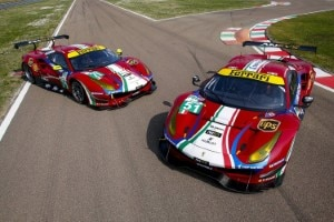 Die beiden Ferrari 488 GTE von AF Corse für die FIA WEC