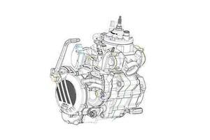Die Zeichnung des neuen KTM-Zweitakt-Einspritzers