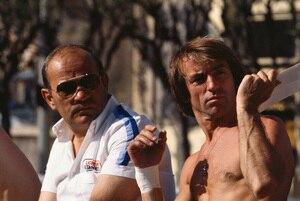 Guy Ligier mit seinem langjährigen Piloten Jacques Laffite