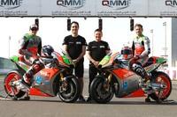 Das Aprilia-Team: Bradl, Albesiano, Gresini und Bautista