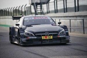 Der Mercedes bei den Tests in Portimao