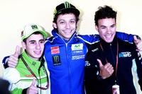 Valentino Rossi 2014 mit Antonelli und Morbidelli