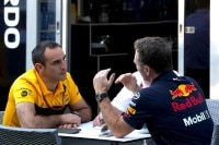 Renault-Teamchef Cyril Abiteboul mit Red Bull Racing-Teamchef Christian Horner
