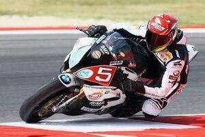 Marco Faccani gewann sein Heimrennen in Misano auf BMW