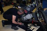 Marcel Gerhard legte selber Hand an den GTR-Motor