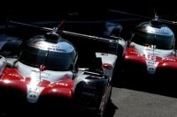 Die beiden Toyota TS050 Hybrid in Spa-Francorchamps